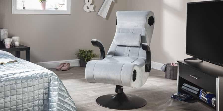 Marcas sillas gaming. X rocker. silla gamer con altavoces. silla gamer sin ruedas. X rocker silla