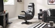 Top sillas gaming. Silla gamer con altavoces. sillas para gamers. x rocker
