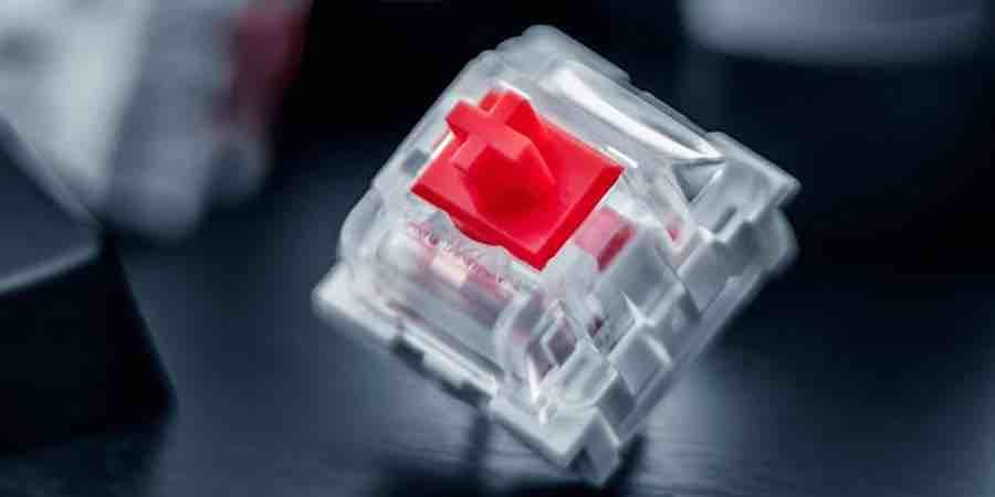 Switch rojo de teclado gaming silencioso