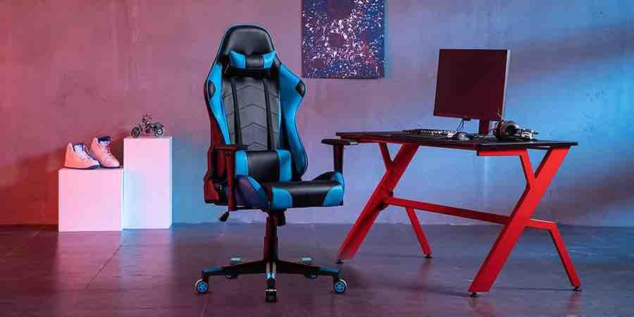 silla gamer azul claro IntimaTe Heart WM